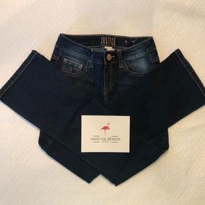 Justice girls jeans. Boot cut. Mid Rise. Size 10